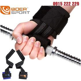Dây kéo lưng kết hợp với cuốn cổ tay tập Gym Boer - Dây quấn cổ tay tập gym - cuốn cổ tay tập Gym Boer