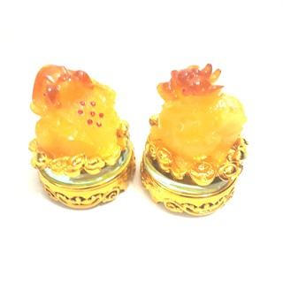 Combo cóc ngậm tiền và tỳ hưu đế kính vàng xoay 360 độ bột đá vàng - CBCKVĐ668 thumbnail
