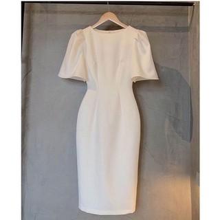 Đầm công sở đẹp, + Tặng gương mini xinh xắn, đầm trắng tiểu thư, đầm trắng nữ, đầm trắng dài, đâm trắng công sở, váy công sở đẹp, váy đầm dự tiệc, váy trắng, đầm nữ ôm body siêu tôn dáng - DTL150 thumbnail