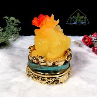 Combo cóc ngậm tiền và tỳ hưu đế kính vàng xoay 360 độ bột đá vàng [ĐƯỢC KIỂM HÀNG] 26643853 - 26643853 thumbnail