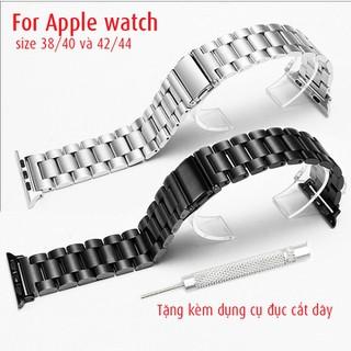Dây inox đúc không gỉ cho đồng hồ apple watch size 38, 40, 42, 44, tặng kèm dụng cụ cắt dây - D2004 - D2004 thumbnail