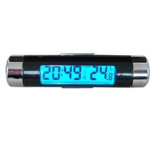 Dụng cụ, thiết bị kết hợp đồng hồ, nhiệt kế màn hình đèn LED gắn cửa thông gió ô tô, xe hơi, xe tải, Đồng hồ và nhiệt kế tròn ô tô 206135 - 206135 thumbnail