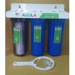 Bộ lọc thô 3 cốc | Bộ lọc nước kèm lõi lọc nước | bộ lọc 3 cốc