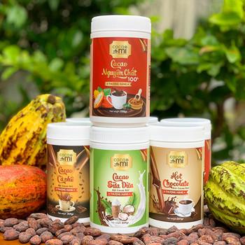 Bột cacao hoà tan CacaoMi thượng hạng [4 hương vị]