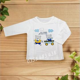 Bộ 5 áo sơ sinh dài tay cài nút vai cotton đẹp - 43202
