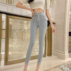 Quần jeans lưng cao thắt dây Mã: QD2112