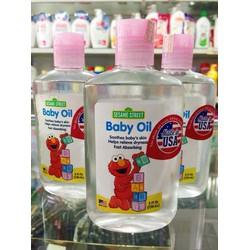 Tinh Dầu Massage Baby oil Sesam street Nhập Khẩu Mỹ 236ml