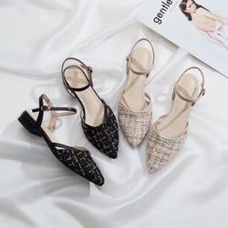 giày lười nữ giá rẻ – Giày sandal kim tuyến
