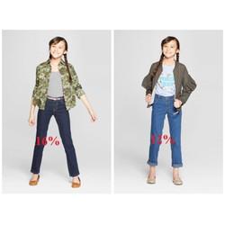 Quần jean cho bé gái hàng VNXK size 4-12 tuổi