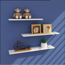 Kệ gỗ treo tường bộ ba thanh ngang