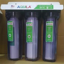 Bộ lọc thô 3 cấp - Bộ lọc nước gia đình - Bộ lọc nước sinh hoạt kèm lõi và phụ kiện
