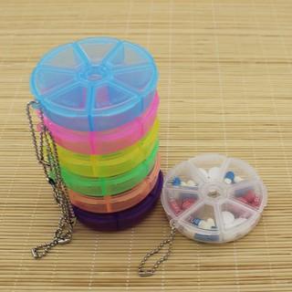 Hộp Nhựa Chia Thuốc 7 Ngăn Có Móc Khóa - 8918 thumbnail