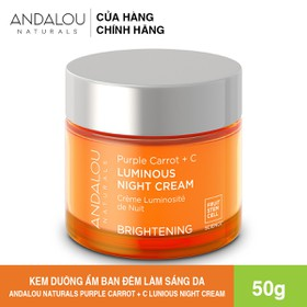 [Freeship 50K] Kem Dưỡng Da Ban Đêm Làm Sáng Da Chiết Xuất Cà Rốt Tím+Vitamin C Andalou Naturals Purple Carrot + C Luminous Night Cream 50g - 25176