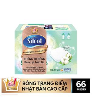 HỘP 66 MIẾNG Bông Trang Điểm Bông Tẩy Trang Silcot - 4903111424283 thumbnail