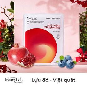 Mặt nạ miung lab chính hãng mẫu mới date 2023 hộp 7 miếng màu đỏ tinh chất lựu - mặt nạ miung lab tinh chất lựu