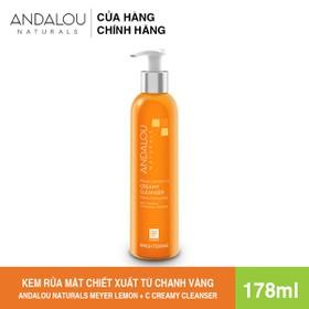 [Freeship 50K] Kem Rửa Mặt Chiết Xuất Từ Chanh Vàng Meyer Andalou Naturals Meyer Lemon + C Creamy Cleanser 178ml - 25101