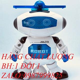 ĐỒ CHƠI CHO TRẺ EM Robot thông minh xoay 360 - đồ chơi cho em bé robot thumbnail