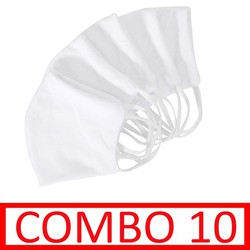COMBO 10 Khẩu trang vải MD520CB10 Mũi Đôi