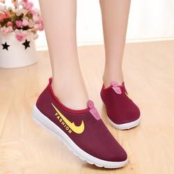 Giày lười vải fashion đế cao su dẻo êm chân