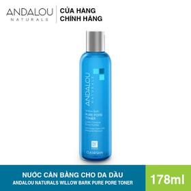 [Freeship 50K] Nước cân bằng da se khít lỗ chân lông Andalou Naturals Aloe Willow Bark Pure Pore Minimizer Toner 178ml - 25127