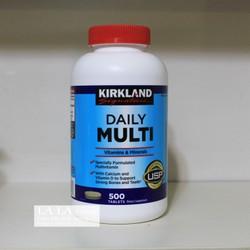 Vitamin tổng hợp từ Mỹ Kirkland Daily Multi hộp 500 viên Minerals