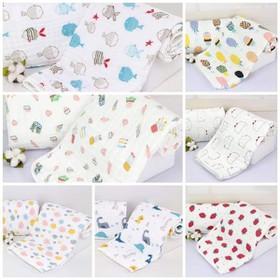 Chăn khăn bo viền 6 lớp cotton organic đa công dụng - 064