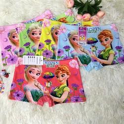 Combo 10 quần lót đùi bé gái 3D in hình công chúa Elsa [FREE SHIP], thun co giãn 4 chiều, mềm mại thoáng mát, từ 9kg đến 24kg