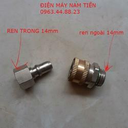 bộ khớp nối nhanh cho dây rửa xe - bộ khớp nối nhanh cho dây rửa xe | đầu ra ren 14mm - chống xoắn dây 14mm