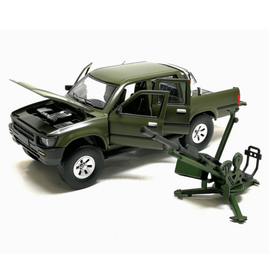 Mô hình xe ô tô quân sự tỉ lệ 1:32 bằng kim loại đồ chơi trẻ em - Quân sự 1:32