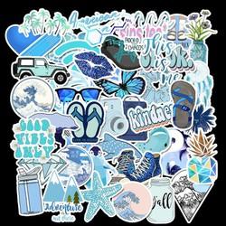 Sticker BIỂN  nhựa PVC không thấm nước, dán nón bảo hiểm, laptop, điện thoại, Vali, xe, Cực COOL #51