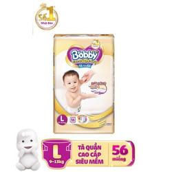 Tã Bobby Quần Cao Cấp Siêu Mềm Extra Soft Dry M64, L56, XL50, XXL46
