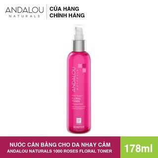 [Freeship 50K] Nươ c Cân Bă ng Cho Da Nha y Ca m Andalou Naturals 1000 ROSES Floral Toner 178ml - 25310 thumbnail