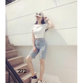 Quần Jeans Lủng Ngố Rách Lai - 272 thumbnail