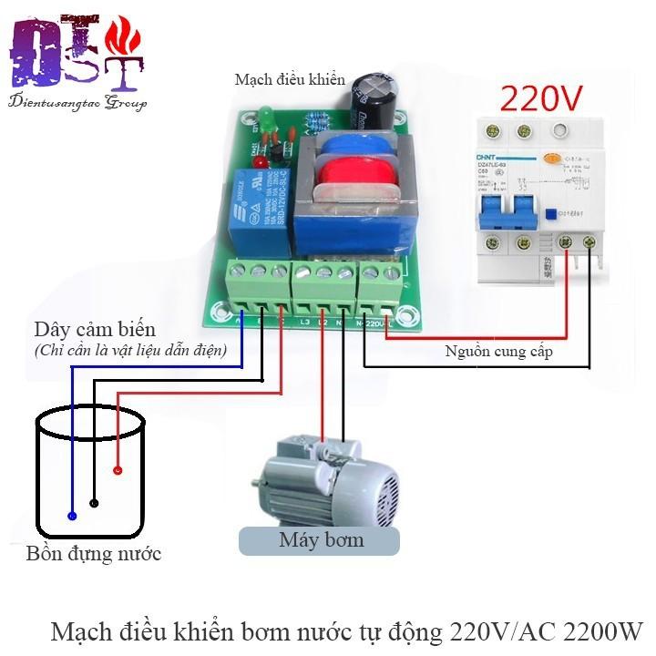 Mạch điều khiển bơm nước tự động 220VAC 2200W
