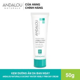 [Freeship 50K] Kem Dưỡng Da Ban Ngày Dưỡng Ẩm Chuyên Sâu Andalou Naturals Coconut Water Visibly Firm Day Cream 50g - 25670