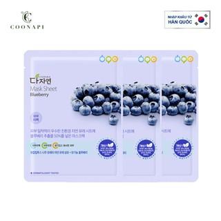 Combo 3 Mặt Nạ Việt Quất Dưỡng Trắng Da All Natural Mask Sheet Blueberry 25ml - AN23 - AN23 thumbnail