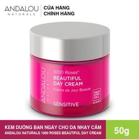 [Freeship 50K] Kem Dưỡng Da Ban Ngày Cho Da Nhạy Cảm Andalou Naturals 1000 ROSES Beautiful Day Cream 50g - 25370