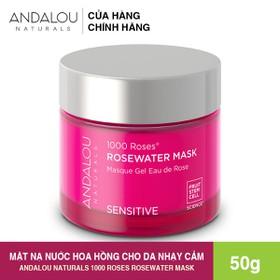 [Freeship 50K] Mặt Nạ Nước Hoa Hồng Andalou Naturals 1000 ROSES Rosewater Mask 50g - 25340