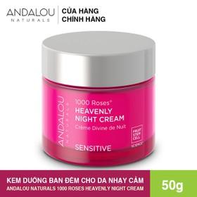 [Freeship 50K] Kem Dưỡng Ban Đêm Cho Da Nhạy Cảm Andalou Naturals 1000 ROSES Heavenly Night Cream 50g - 25372
