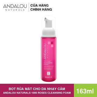 [Freeship 50K] Bo t Rư a Mă t Da nh Cho Da Nha y Ca m Andalou Naturals 1000 ROSES Cleansing Foam 163ml - 25300 thumbnail