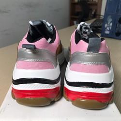 Xả hàng 0 lãi Giày Triple S phối màu hồng nâu fullbox tặng kèm tất Hàn - Được Kiểm Hàng