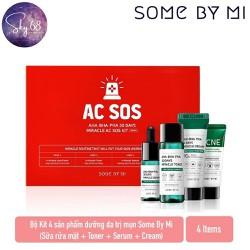 Bộ Kit 4 sản phẩm dưỡng da tri mụn Some By Mi AHA - BHA - PHA 30 Days Miracle AC SOS Kit