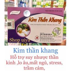 CHÍNH HÃNG Kim Thần Khang hỗ trợ giảm căng thẳng lo âu stress mất ngủ trầm cảm bổ não hộp 30 viên