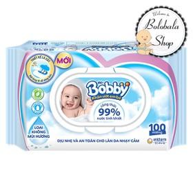 Khăn Ướt Bobby 100 miếng - CHÍNH HÃNG - KHANUOT-BOBBY-100M