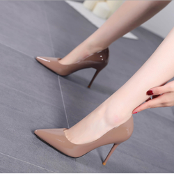 Giày cao gót công sở 7 cm màu nâu
