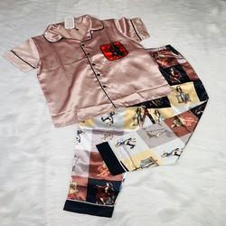 Bộ đồ ngủ pyjama chất vải lụa