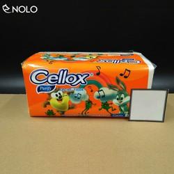 Hộp Khăn Giấy Lụa CELLOX 2 Lớp 260 Tờ Kích Thước 200mm*190mm Khi Bung Nguyên Chất Bột Giấy Siêu Mịn Hàng Thái