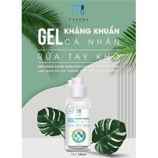 Gel rửa tay khô MC Pharma diệt khuẩn 120ml - GRTK 2