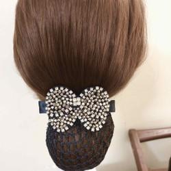 Kẹp tóc sau nơ đính đá pha lê cao cấp ROSES