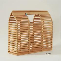 """Túi xách tre hình chữ nhật cá tính LINKA LI-TL902 – """"bảo bối"""" bất li thân của các chị em hiện đại"""
